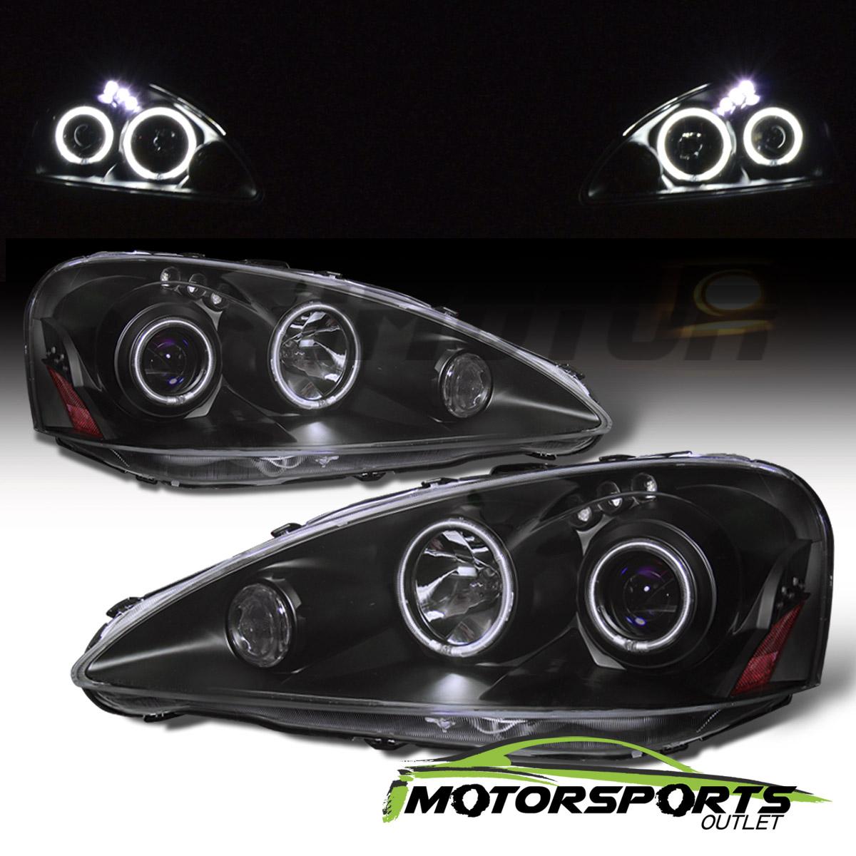 [Dual CCFL Halo] 2005 2006 Acura RSX LED Projector Black