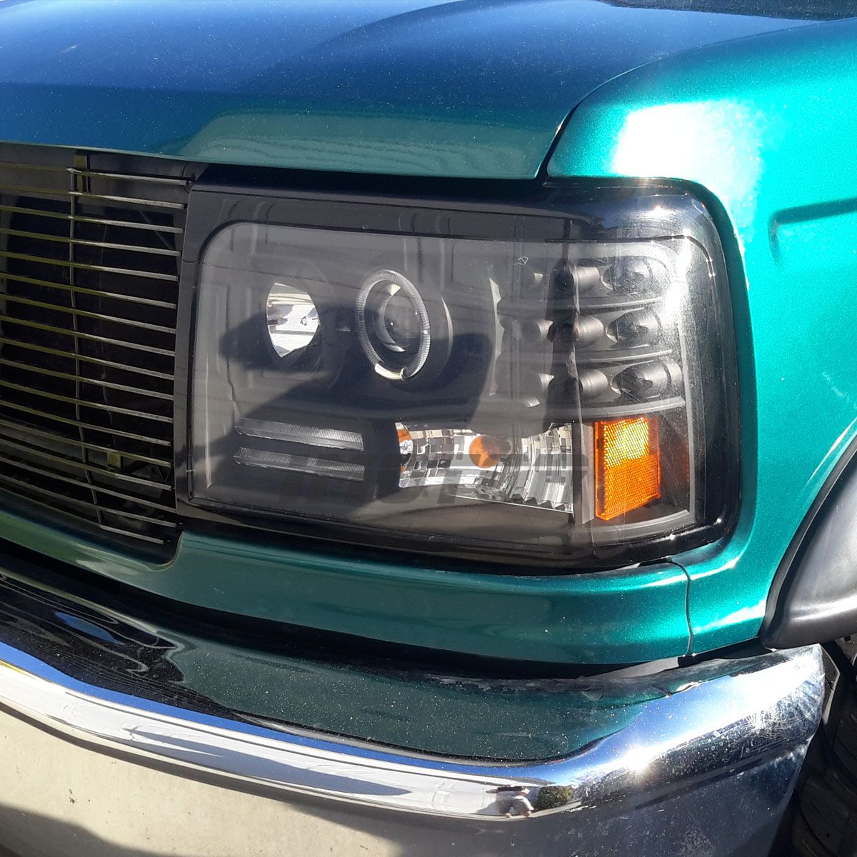 Led Halo 1992 1996 Ford Bronco F150 F250 F350 Projector