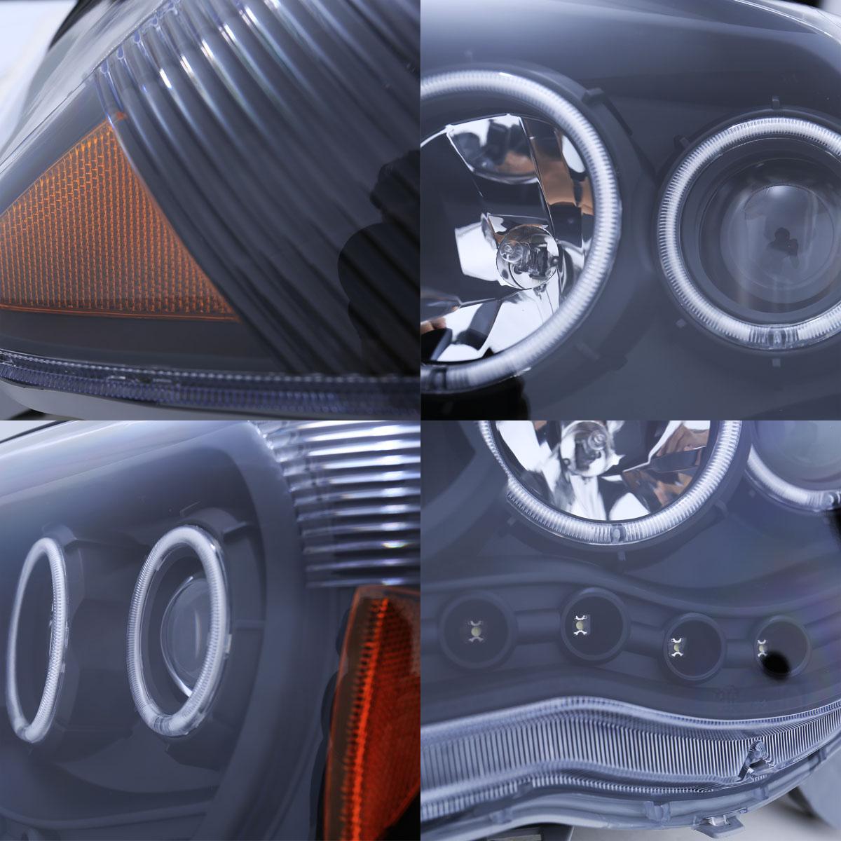 Toyota Tacoma Headlights: [CCFL Halo+LED DRL] For 2005-2011 Toyota Tacoma LED