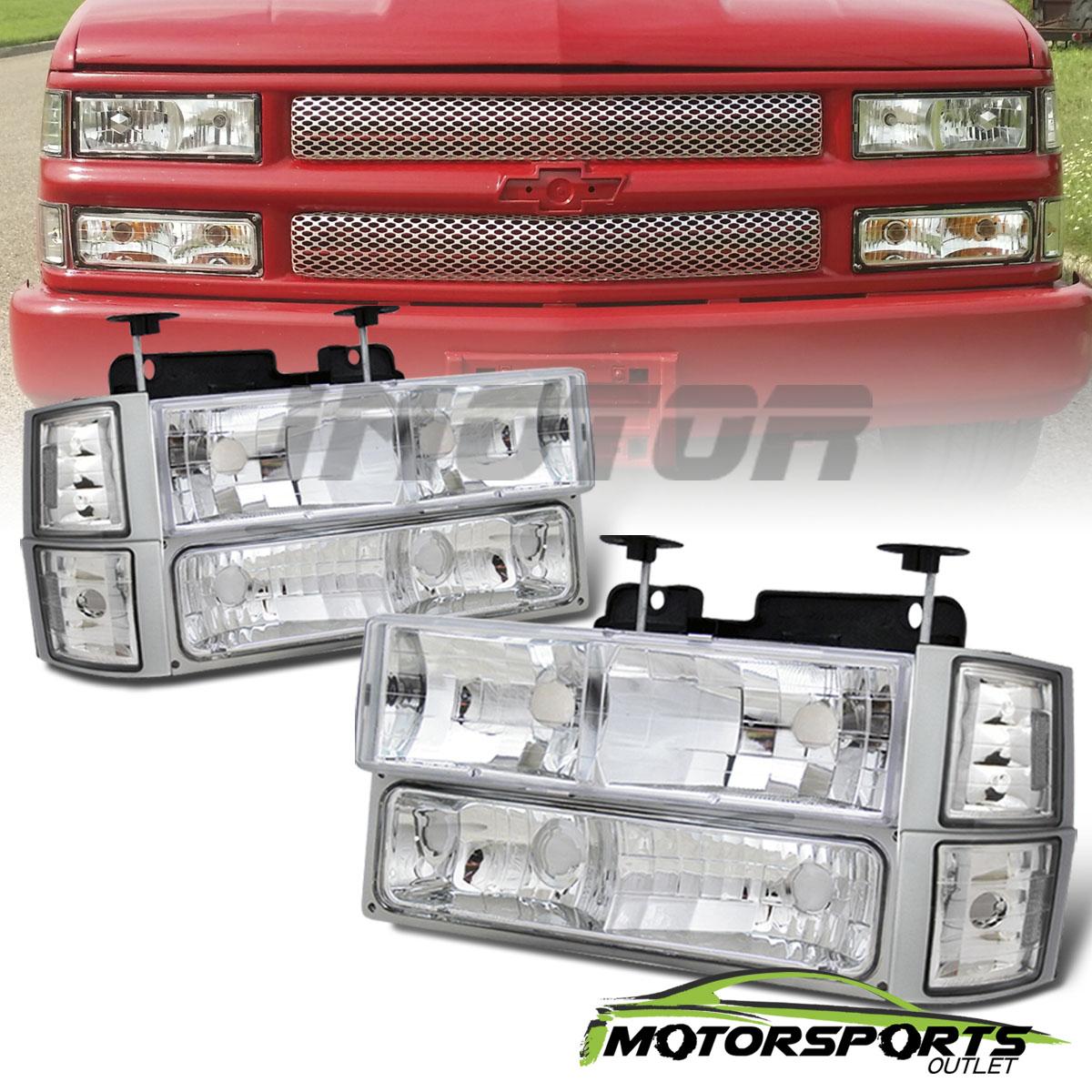 1994-2000 Chevy C/K 1500/2500/3500 Chrome Headlights