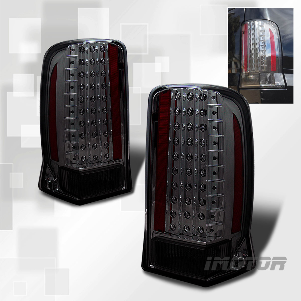 details about 02 06 cadillac escalade led tail lights rear brake lamps. Black Bedroom Furniture Sets. Home Design Ideas