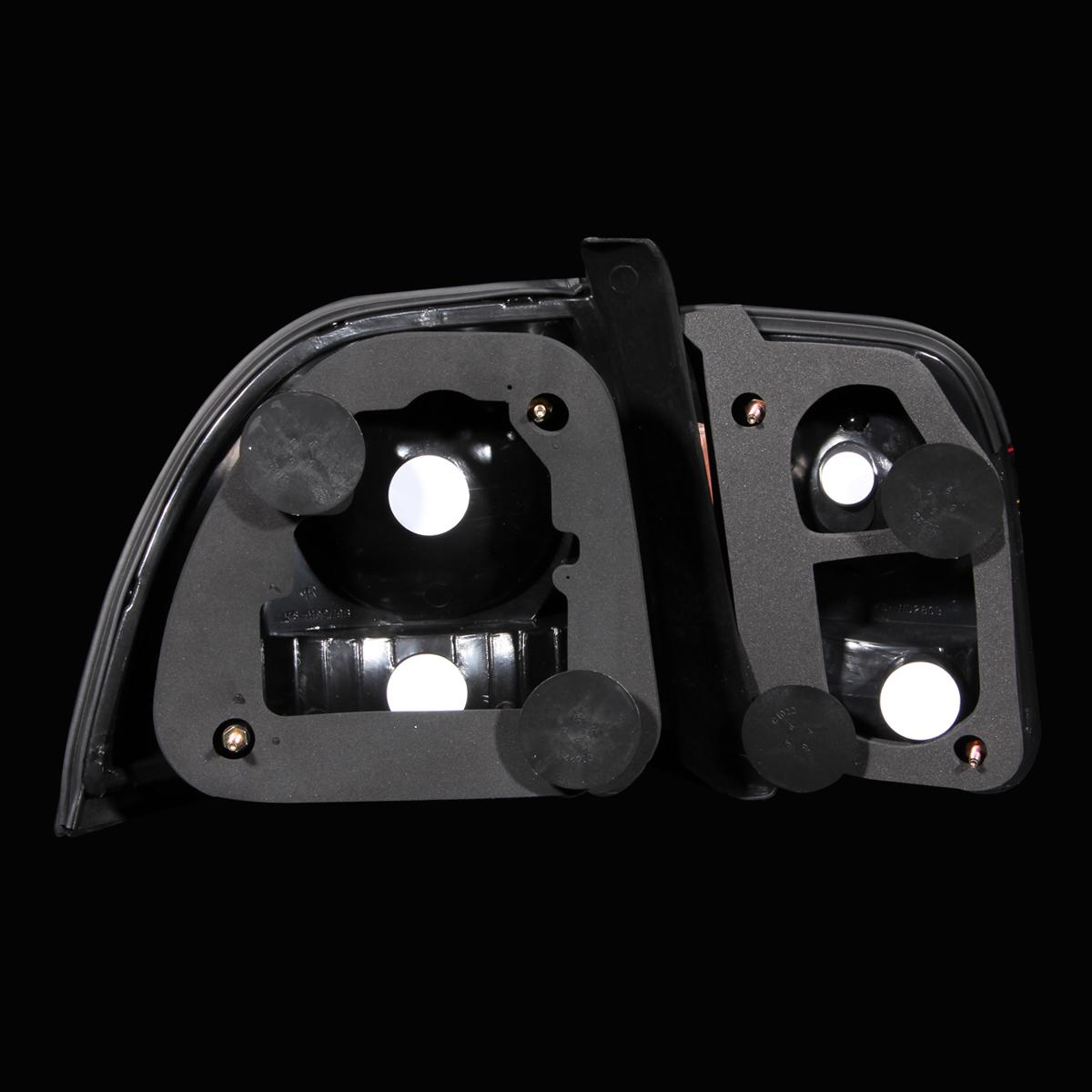 1996 1997 honda accord dx ex lx exl sedan coupe black rear brake tail lights set ebay. Black Bedroom Furniture Sets. Home Design Ideas