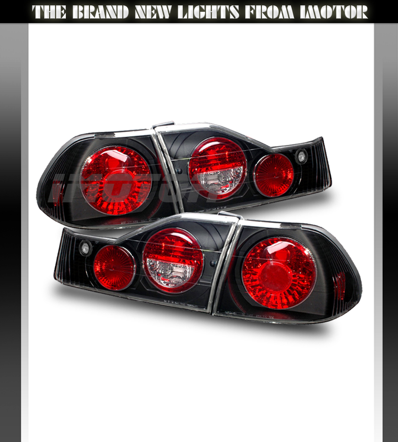 98 00 honda accord 4dr dx ex lx tail lights rear brake. Black Bedroom Furniture Sets. Home Design Ideas