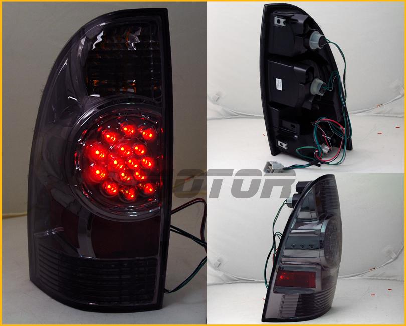 20052015 Toyota Tacoma PickUp LED Smoke Rear Brake Tail Lights