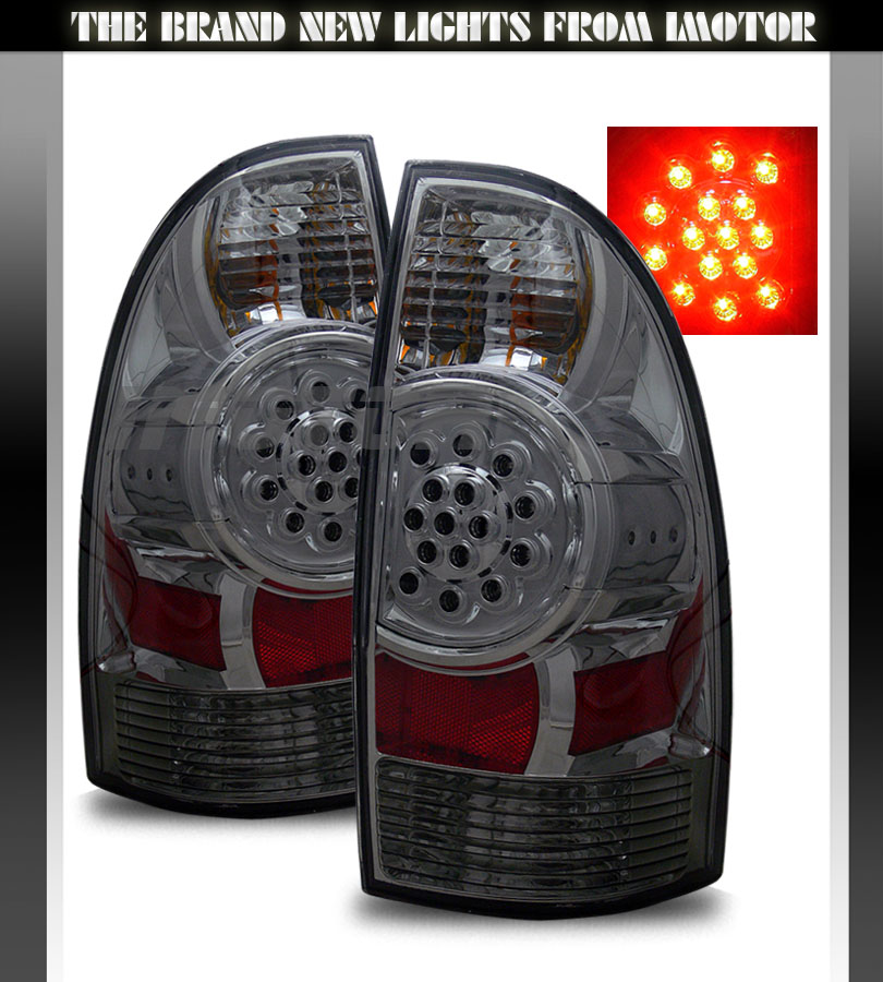 2005 2015 toyota tacoma pickup led smoke brake tail lights. Black Bedroom Furniture Sets. Home Design Ideas