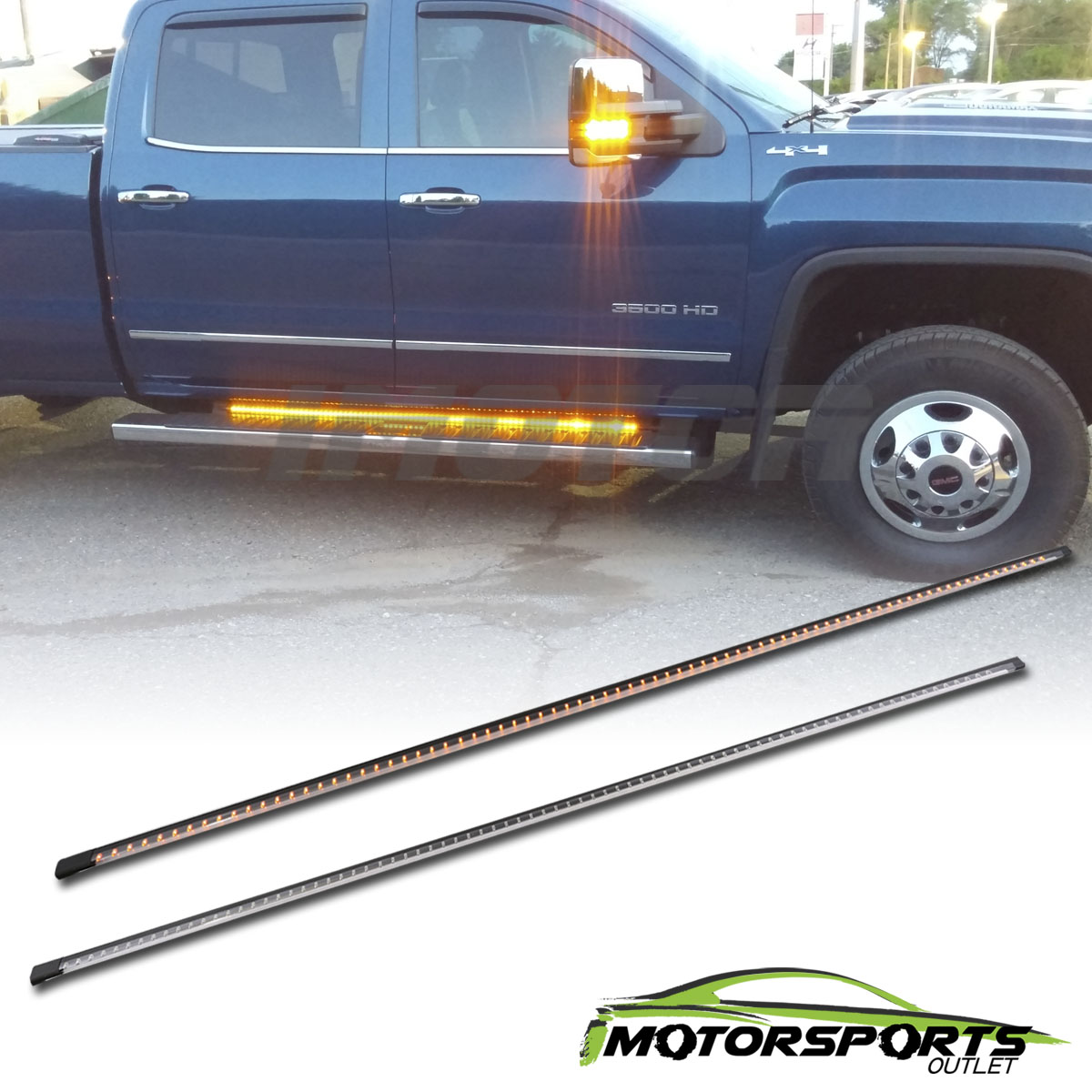 62 Quot 3 Functions Full Led Side Bar Lights Running Board