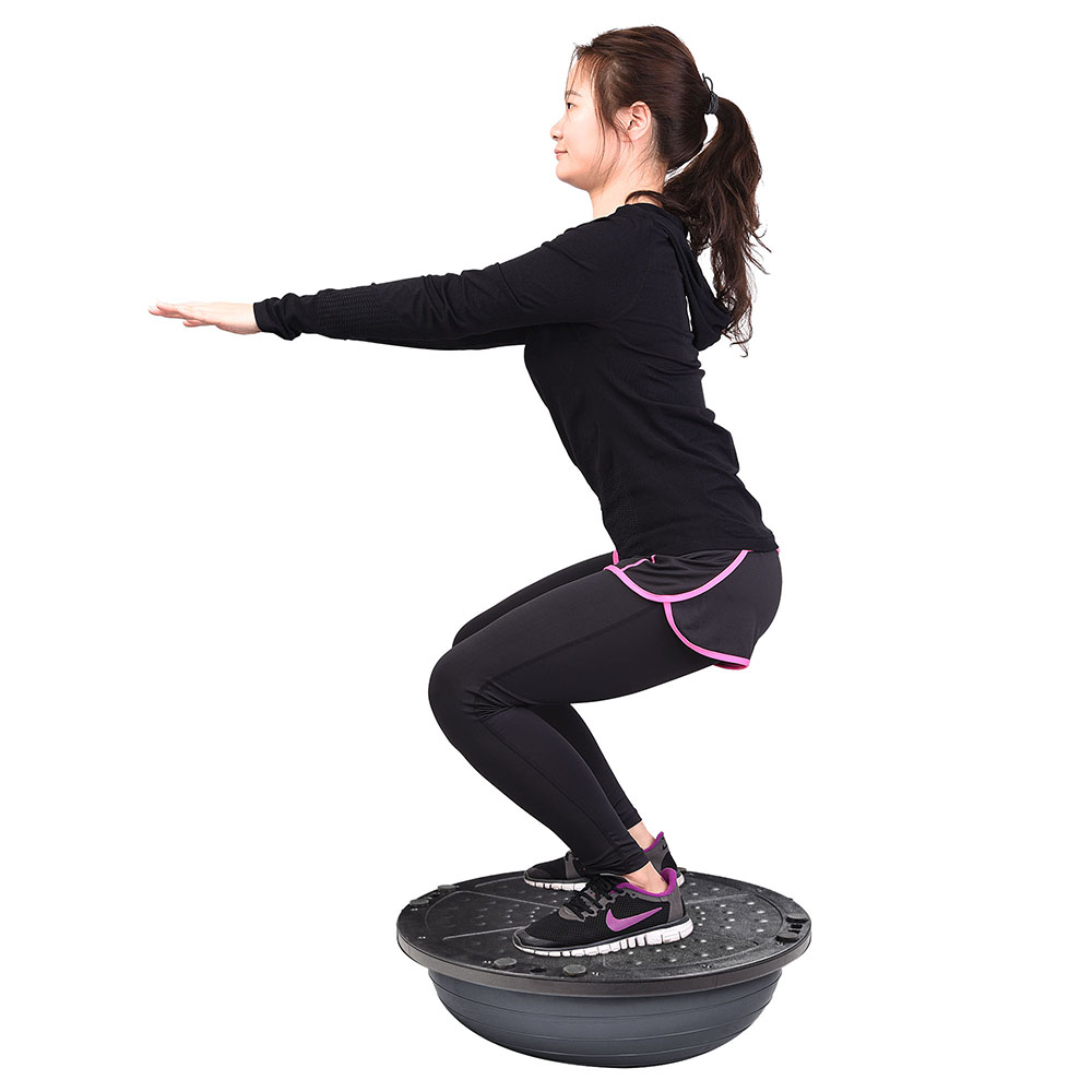 """23/"""" Yoga Half Ball Balance Trainer Exercise Fitness Strength Gym Workout w// Pump"""