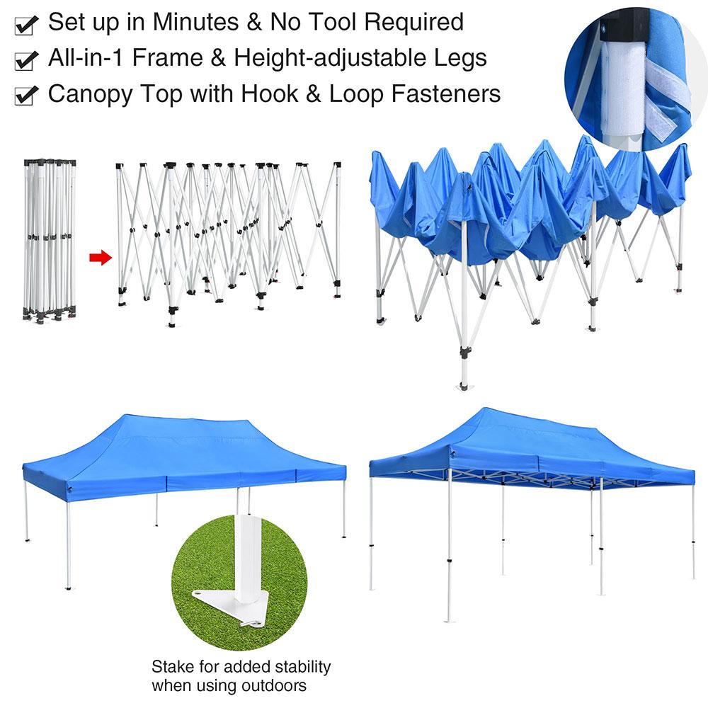 Commercial Ez Pop Up Canopy Tent Outdoor Vendor Event Trade Show Instant Shelter