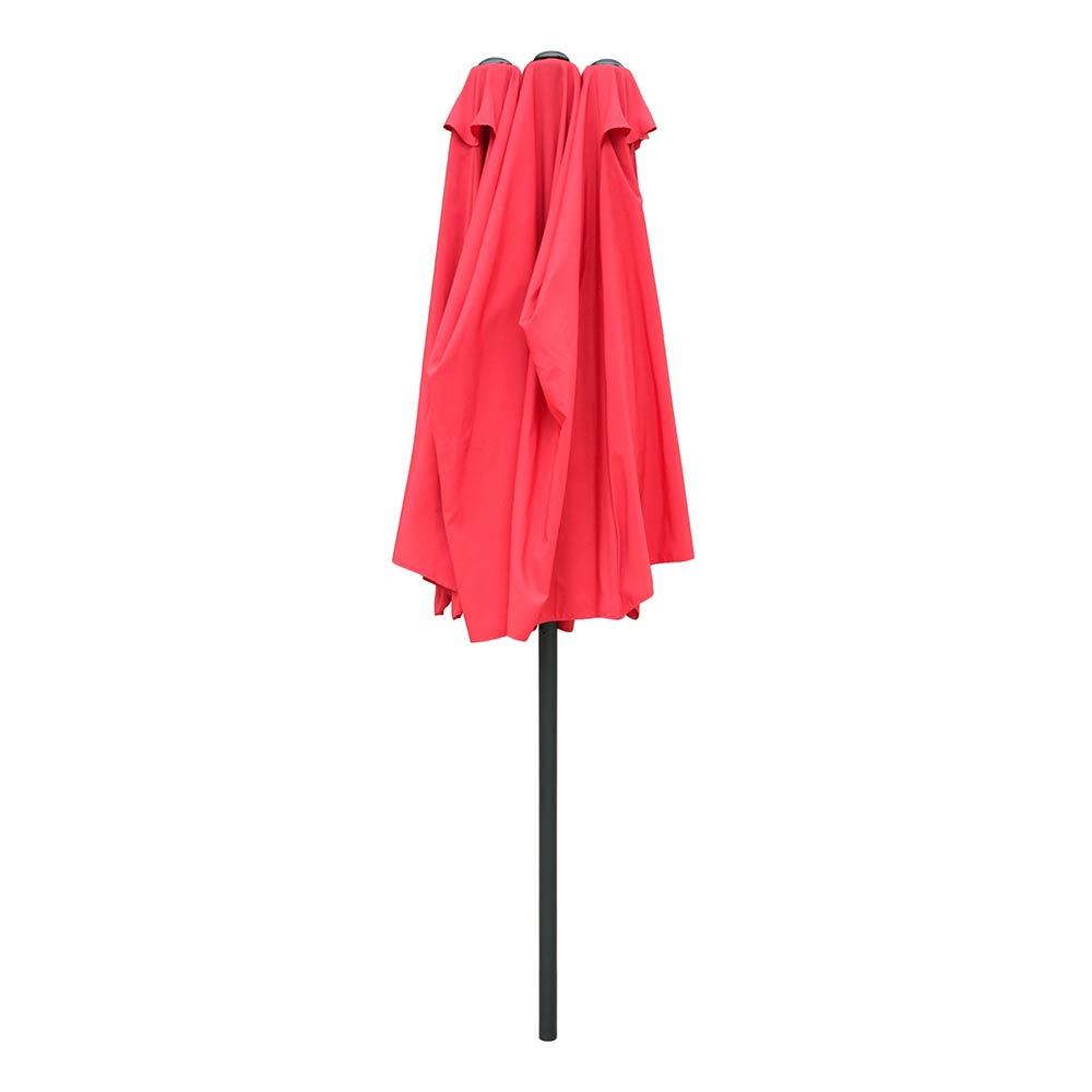 8/'//9/'//10/'//13/' Red Outdoor Patio Umbrella Market Yard Garden w// Crank Tilt Shade