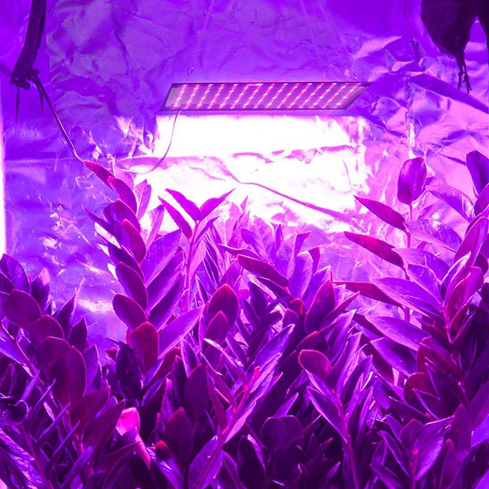 225 Ultrathin LED Grow Light Panel with Powerful UFO SMD LEDs for Hydroponic Opt