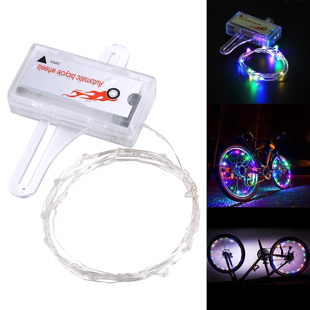 LED Bicycle Bike Cycling Rim Lights Auto Open /& Close Wheel Spoke Light String