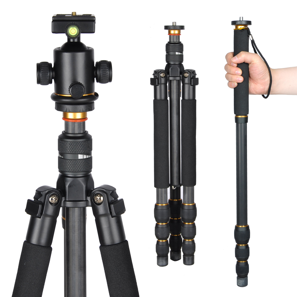 Camera Tripods For Dslr Camera professional 62034 carbon fiber tripod monopod wball head for 62 dslr camera travel