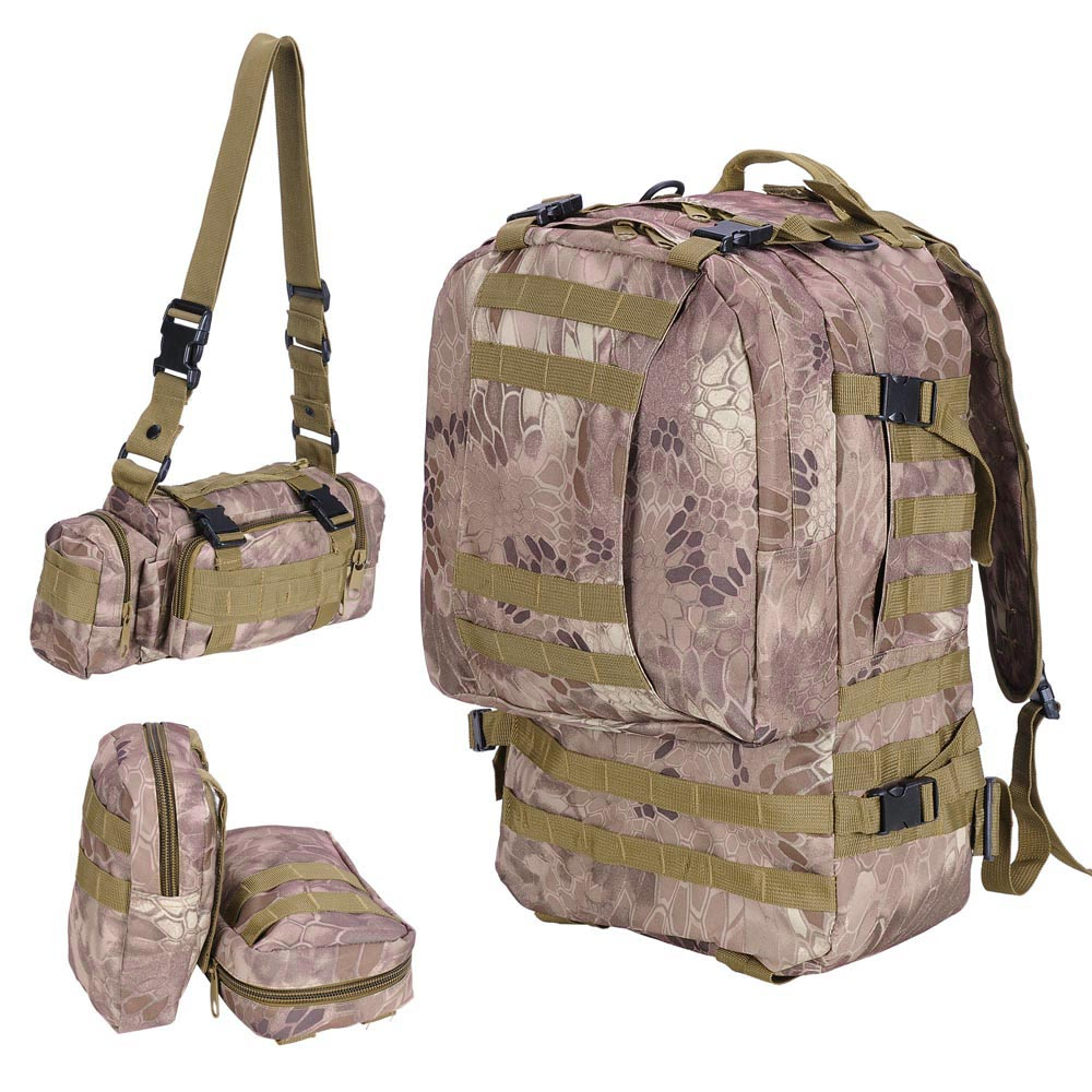 70//80//100//L Military Tactical Army Backpack Rucksack Outdoor Camping Hiking Bag