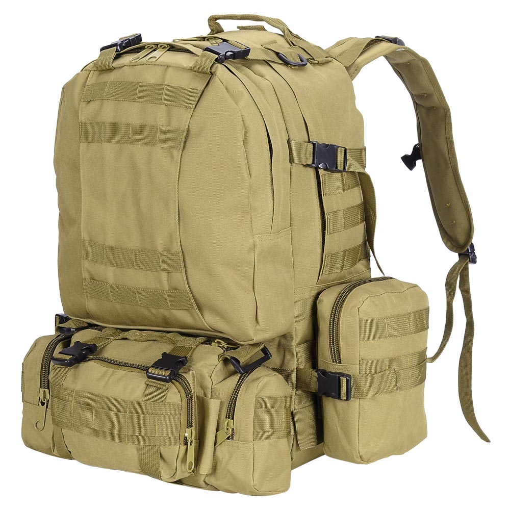 55L Outdoor Military Molle Tactical Backpack Rucksack Camping Bag ...