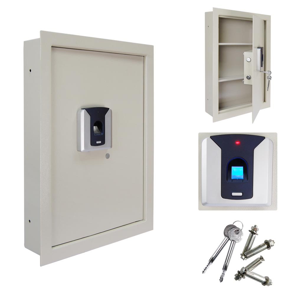 Biometric Fingerprint Wall Hidden Safe Lock Security Box