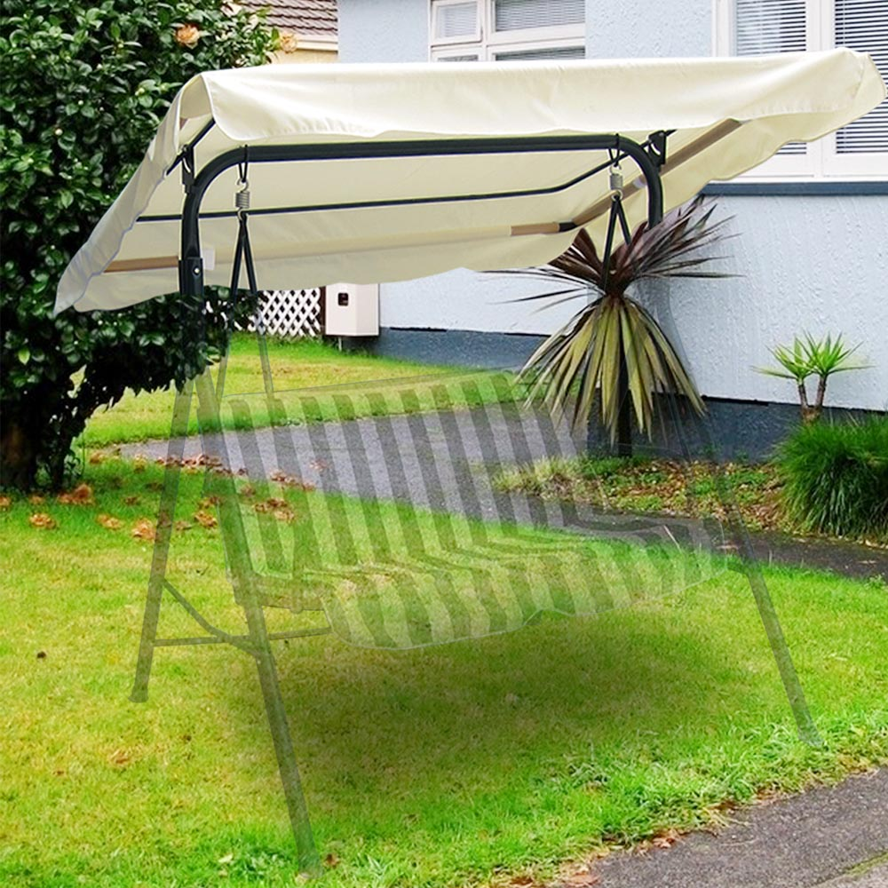 66 x 45 outdoor swing canopy top replacement cover garden patio 2 color options ebay. Black Bedroom Furniture Sets. Home Design Ideas