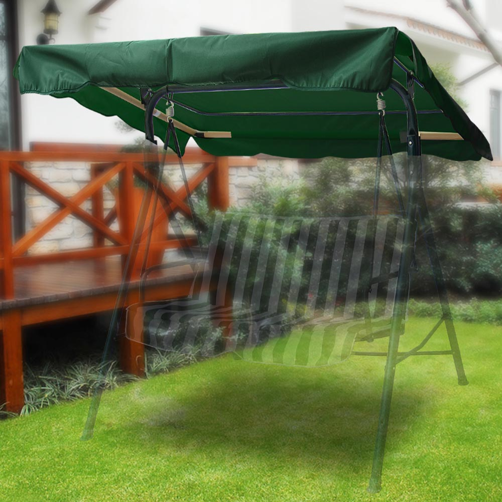 76 x44 outdoor swing canopy top replacement cover garden patio garden yard seat ebay. Black Bedroom Furniture Sets. Home Design Ideas
