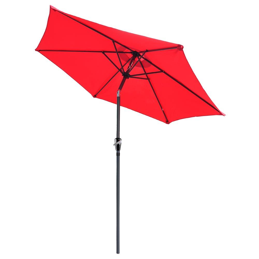 8 Ft Patio Umbrella Aluminum Crank Tilt Deck Sunshade