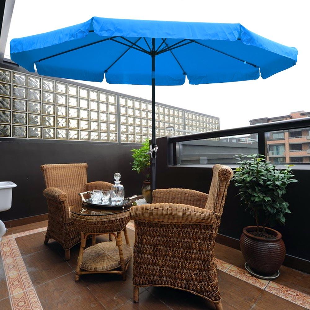 Outdoor Patio Umbrellas Coupon Codes: 10ft Aluminum Outdoor Patio Umbrella W/Valance Crank Tilt