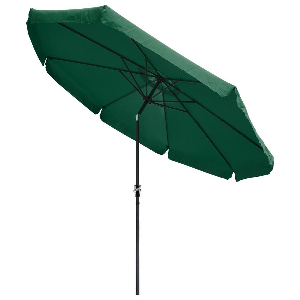 10ft Aluminum Outdoor Patio Umbrella W Valance Crank