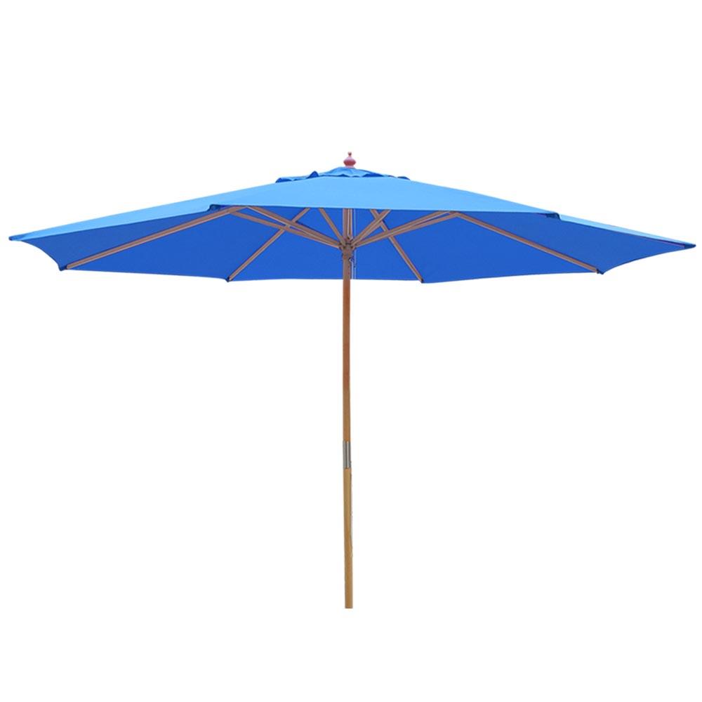 13 Ft Patio Wood Umbrella German Wooden Pole