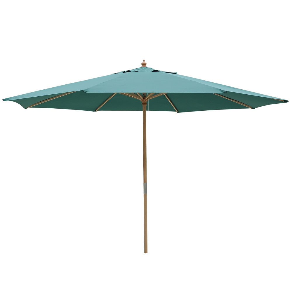 13ft patio german wooden umbrella wood pole outdoor beach. Black Bedroom Furniture Sets. Home Design Ideas