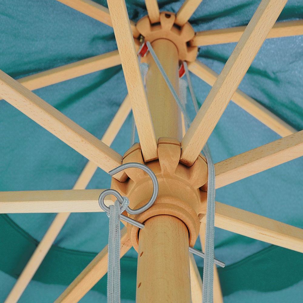 13ft Patio German Wooden Umbrella Wood Pole Outdoor Beach