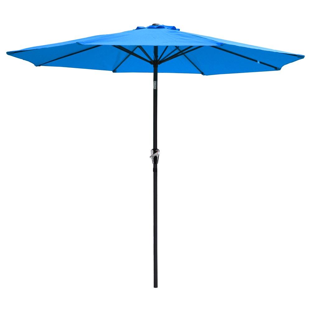 9' Ft Aluminum Outdoor Patio Umbrella Market Yard Beach W