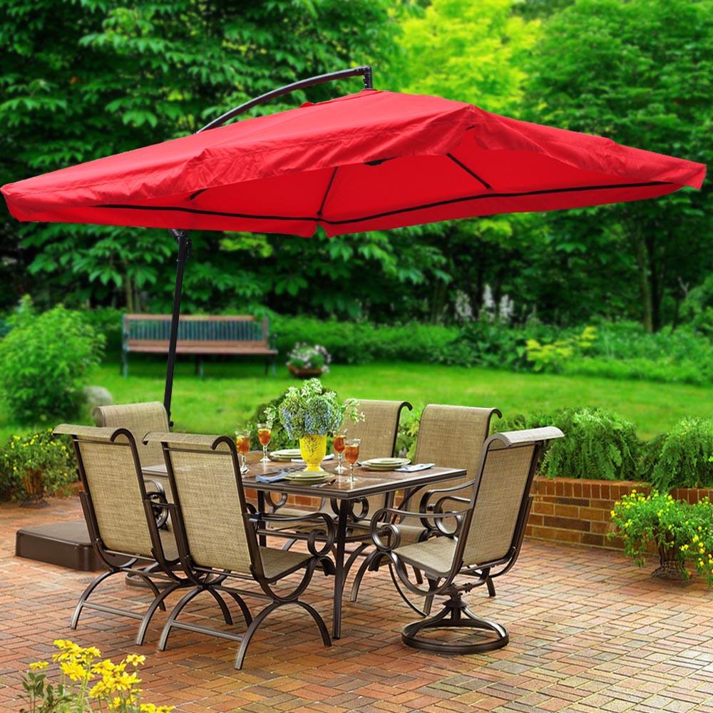 Outdoor Patio Umbrellas Coupon Codes: 9x9' Deluxe Square Patio Offset Hanging Umbrella Gazebo