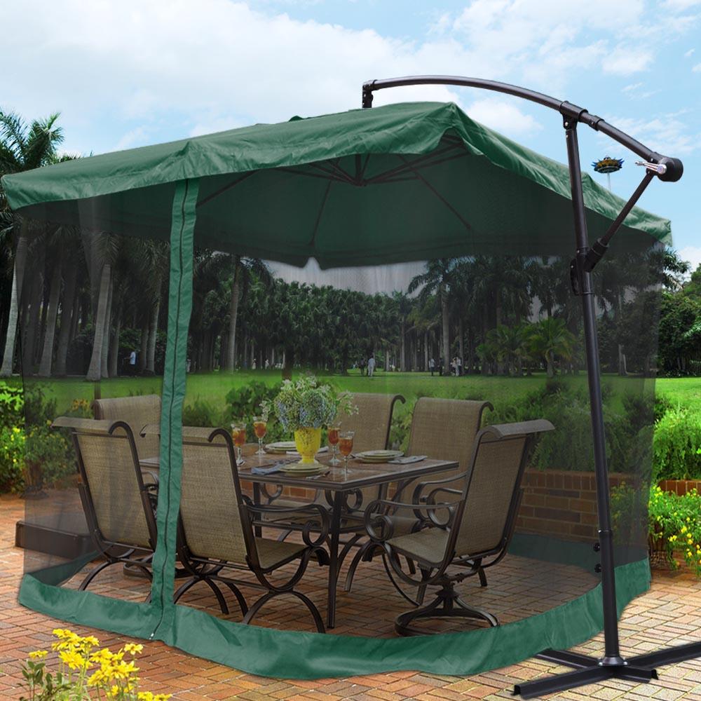9X9 039 Square Aluminum Offset Umbrella Patio Outdoor