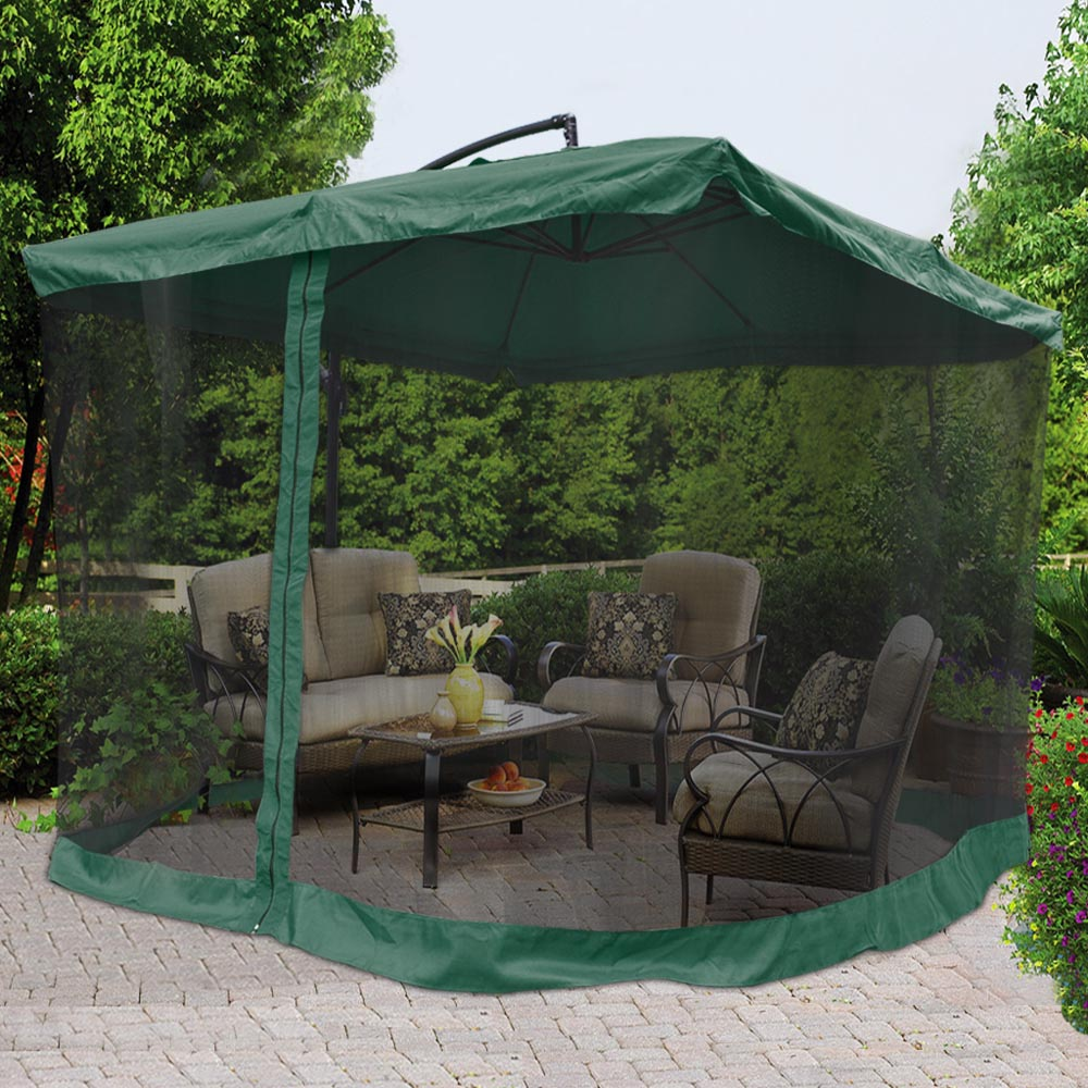 9x9 39 square aluminum offset umbrella patio outdoor shade w for Patio chair with umbrella