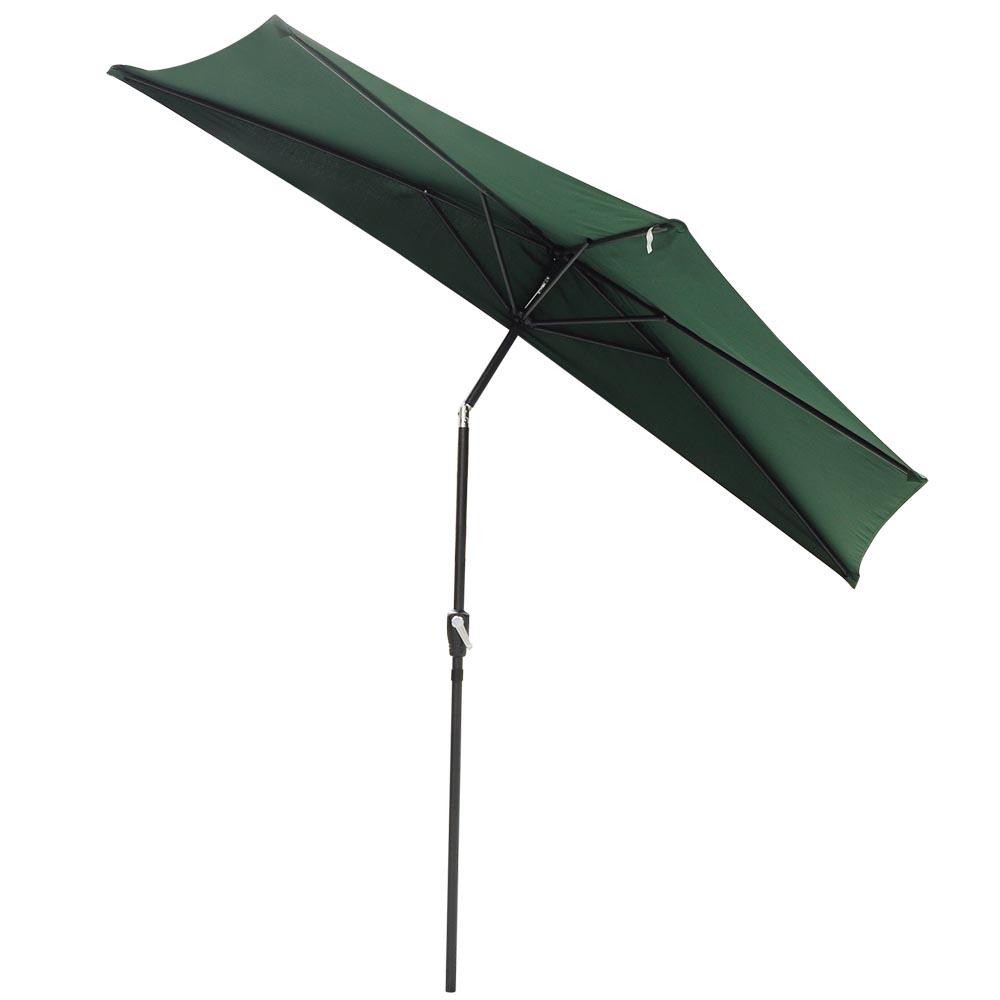 10ft outdoor patio half umbrella wall balcony bistro door for Outdoor patio umbrellas