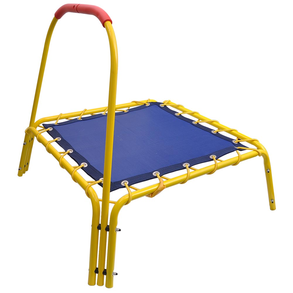 "35"" Mini Trampoline Square W/Handle Bar Pad Indoor Kids"