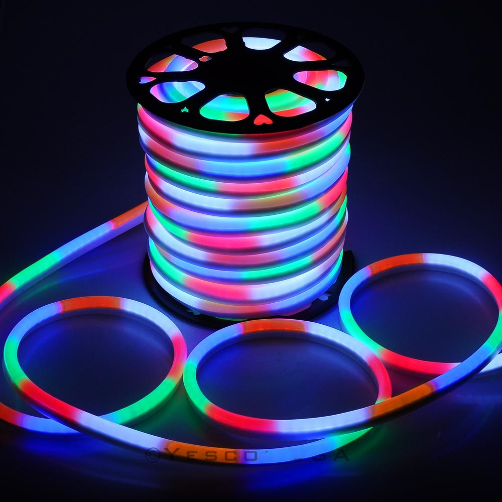 150 39 ft led neon rope light flex tube sign decorative home indoor outdoor 110v ebay. Black Bedroom Furniture Sets. Home Design Ideas