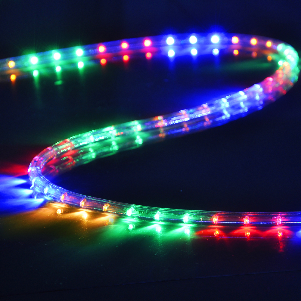 150 39 led rope light 110v 2 wire party home christmas for Outdoor christmas lights