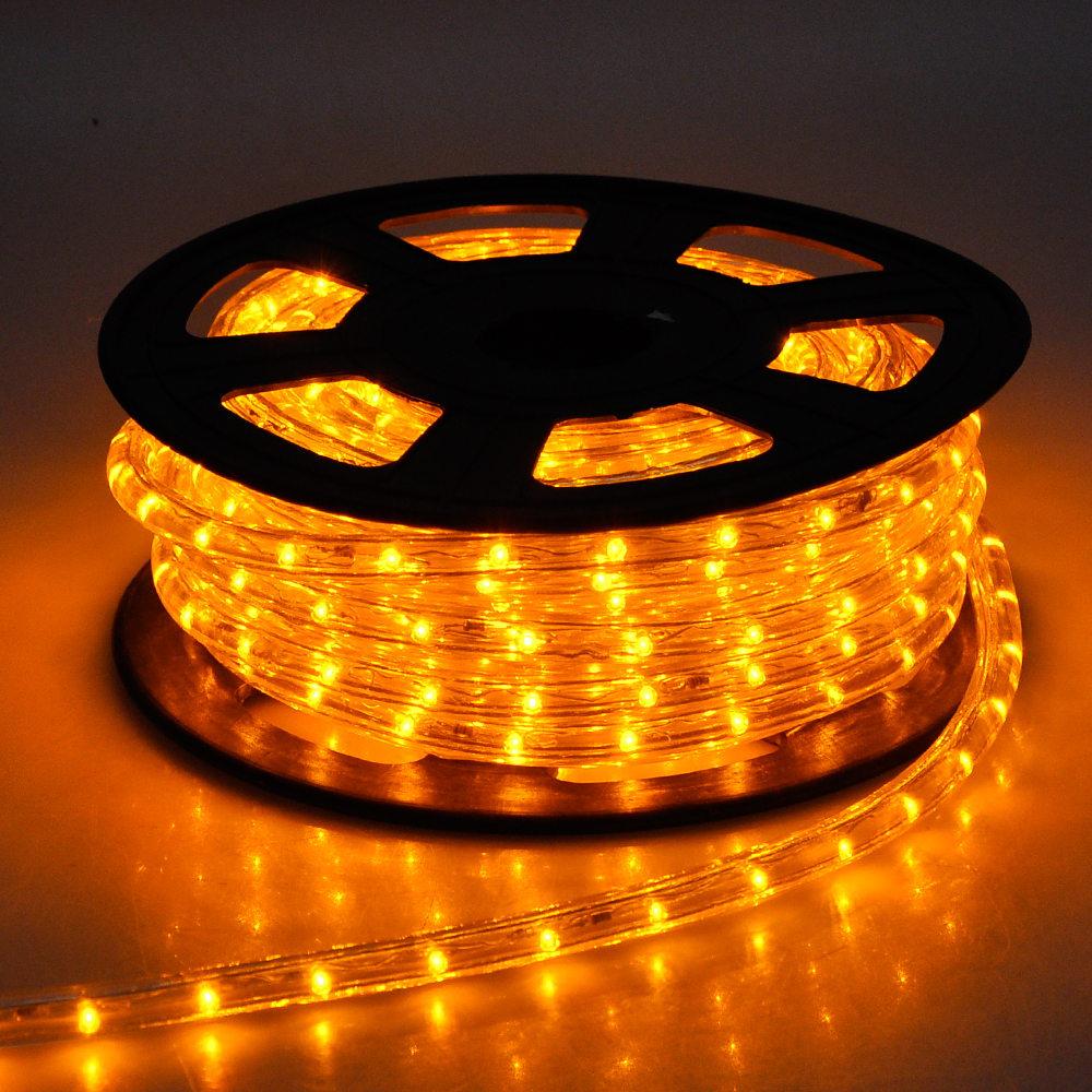 50' LED Rope Light Flex 2-Wire Outdoor Holiday Decoration Multi Color Opt 110V