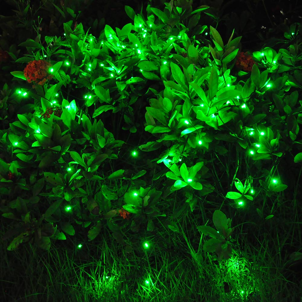 100 LED Solar Fairy String Light Outdoor Party Garden Lawn Waterproof Decor Lamp eBay