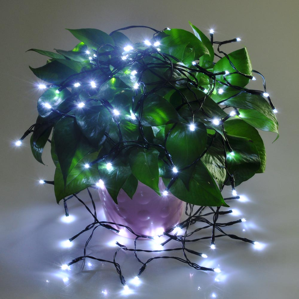 String Lights In Trees: 60 100 LED Solar Power String Light Wedding Party Xmas