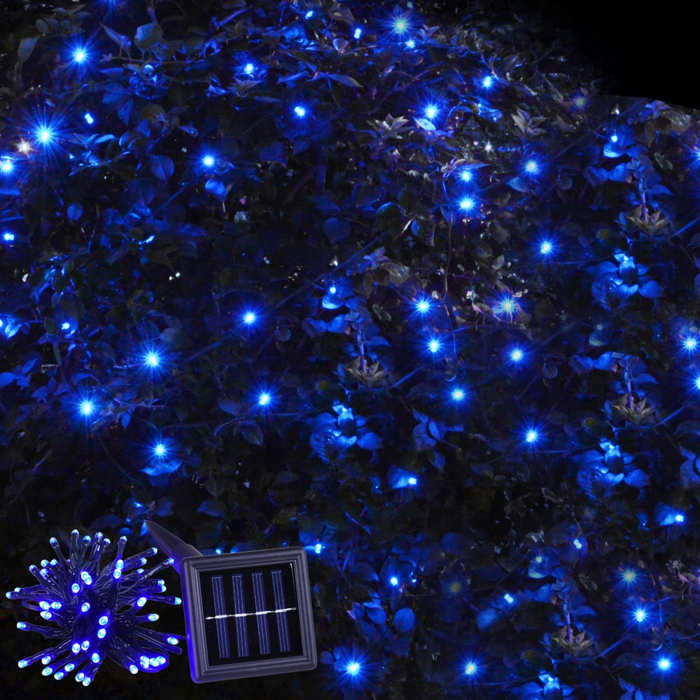 String Lights On Outdoor Tree : 60 LED String Solar Light Outdoor Garden Xmas Wedding Party Fairy Tree Lamps