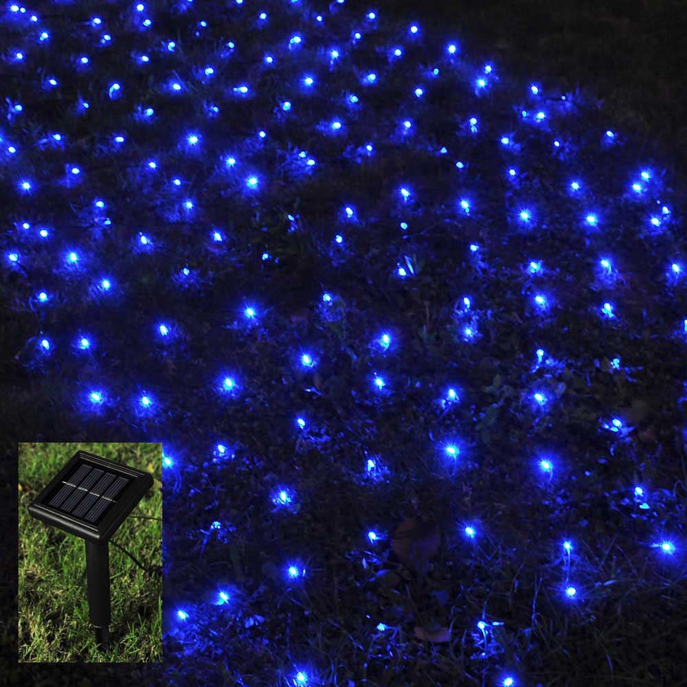No String Xmas Lights : 100 LED Solar String Light Power Fairy Outdoor Yard Lawn Xmas Christmas Net Lamp