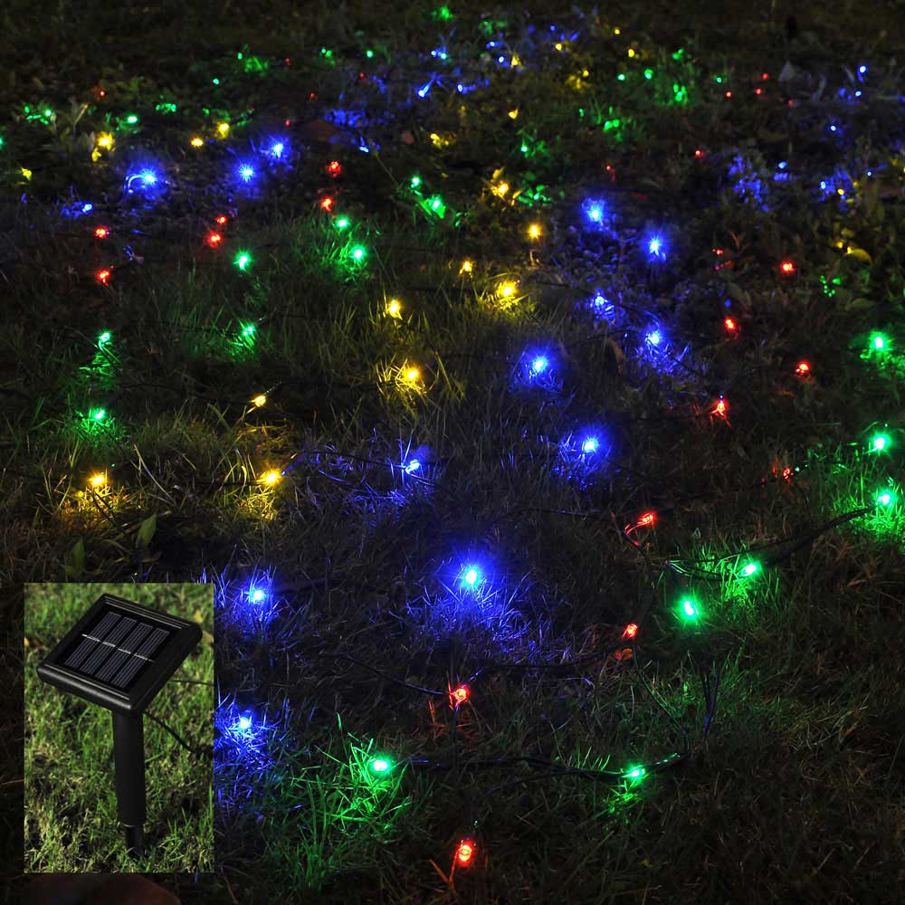 100 led solar string light power fairy outdoor yard lawn for Led yard lights