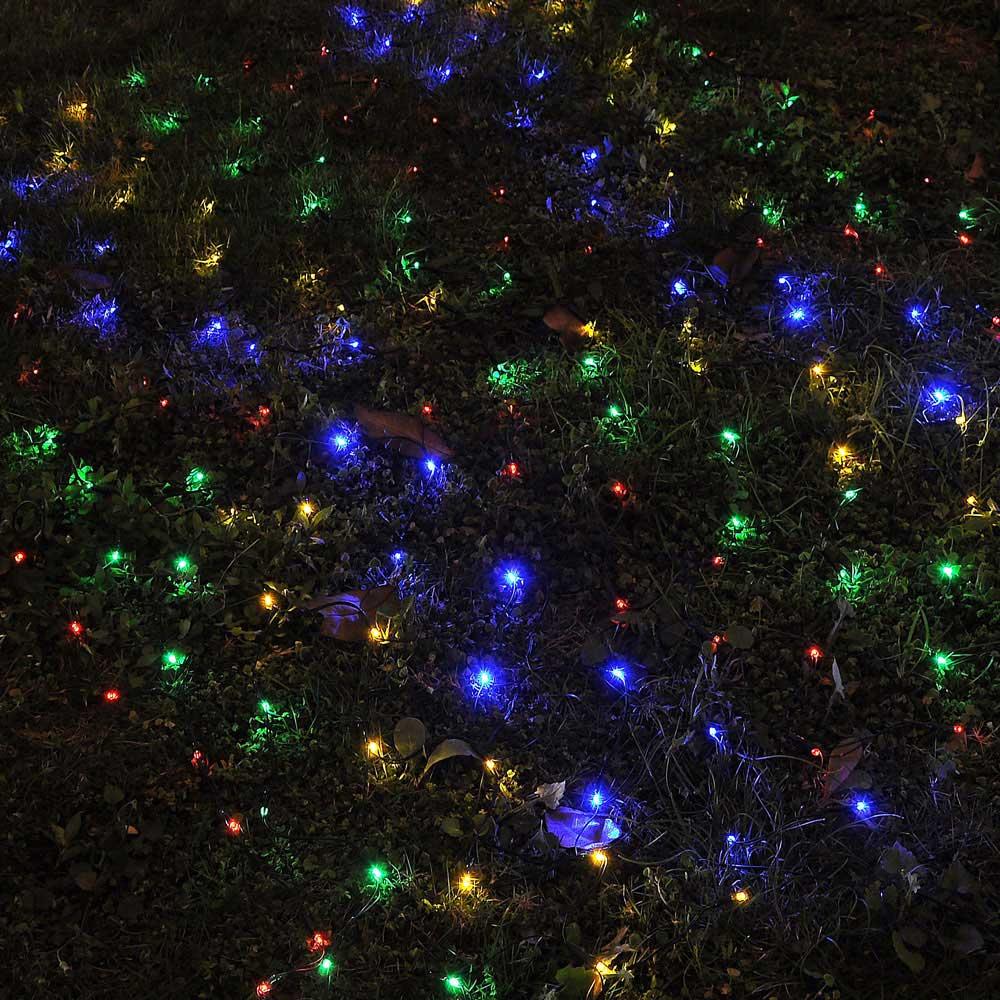Outdoor Xmas String Lights : 100 LED Solar String Light Power Fairy Outdoor Yard Lawn Xmas Christmas Net Lamp