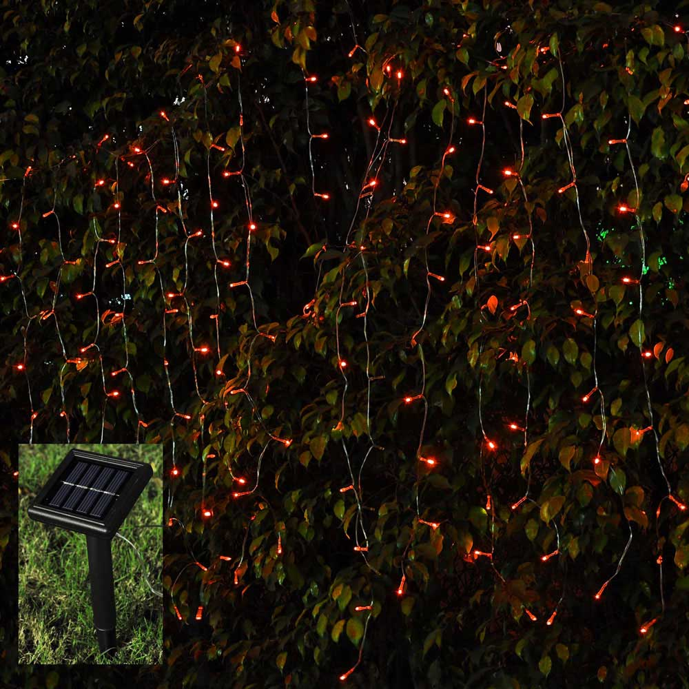 Solar Curtain String Lights : 100 LED Christmas Xmas String Fairy Wedding Curtain Light Solar Power Panel Lamp