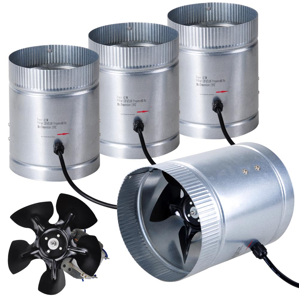 Inline Duct Vents : Quot upgrade inline duct fan blower high cfm