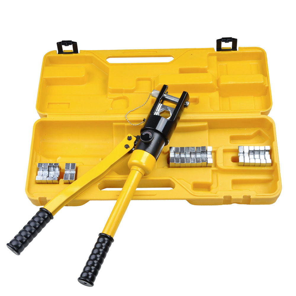 8 10 16 ton hydraulic wire battery cable lug terminal crimper crimping tool us ebay. Black Bedroom Furniture Sets. Home Design Ideas