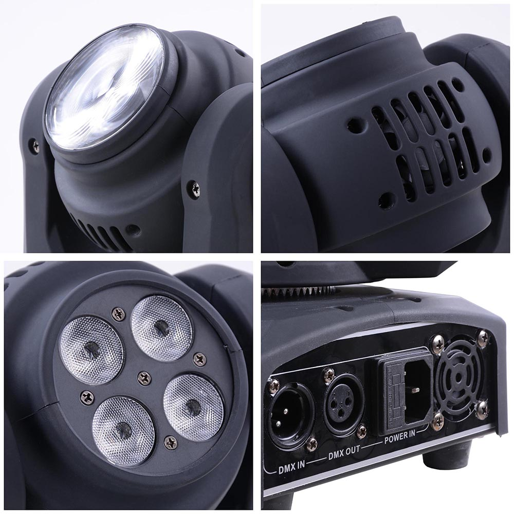 Double Side DMX Stage Lighting 40W Wash 10W Beam LED Moving Head