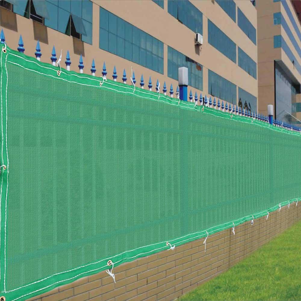 X fence screen cover green black flat fabric slat