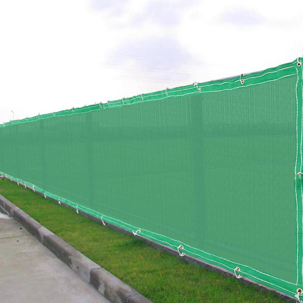 6 39 x50 39 fence screen cover green black flat fabric slat for Garden screening fabric