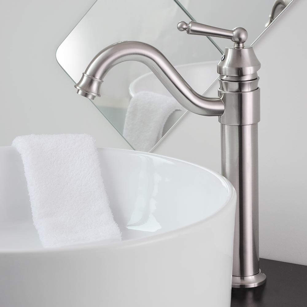 Bathroom Sink Faucets: Bathroom Lavatory Vessel Sink Faucet Swivel