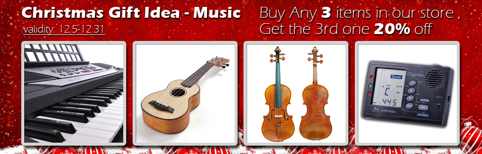 Christmas Gift Idea - Music - Buy 2, Get 1 at 20% off - Validity 12/05 - 12/31